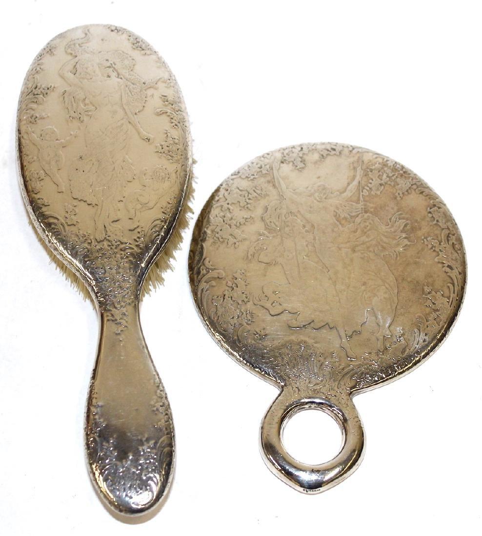 Tiffany & Co. Sterling Silver Mirror & Brush