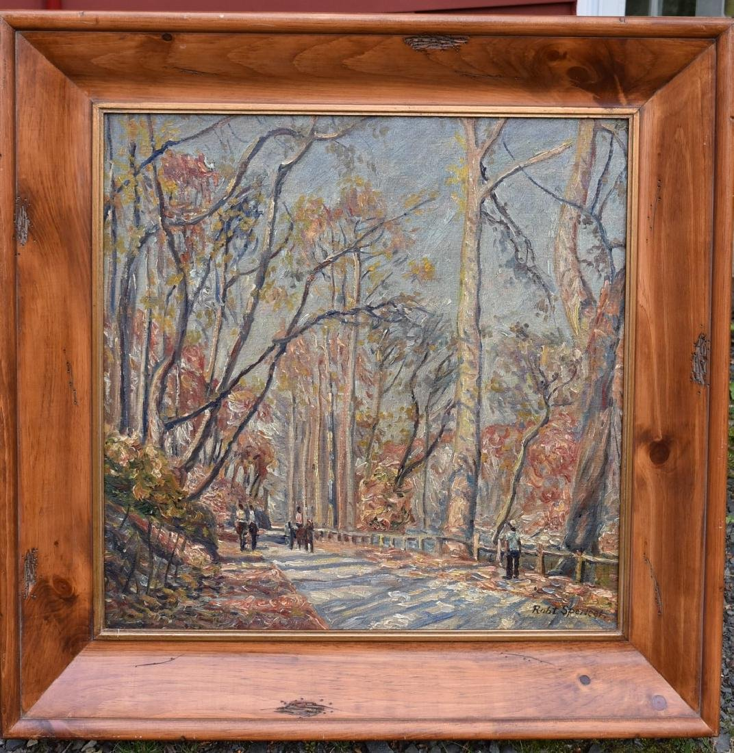 Robert Spencer; American Oil - Path in Central Park