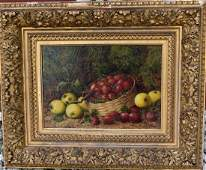 George Clare English Oil Still Life Signed