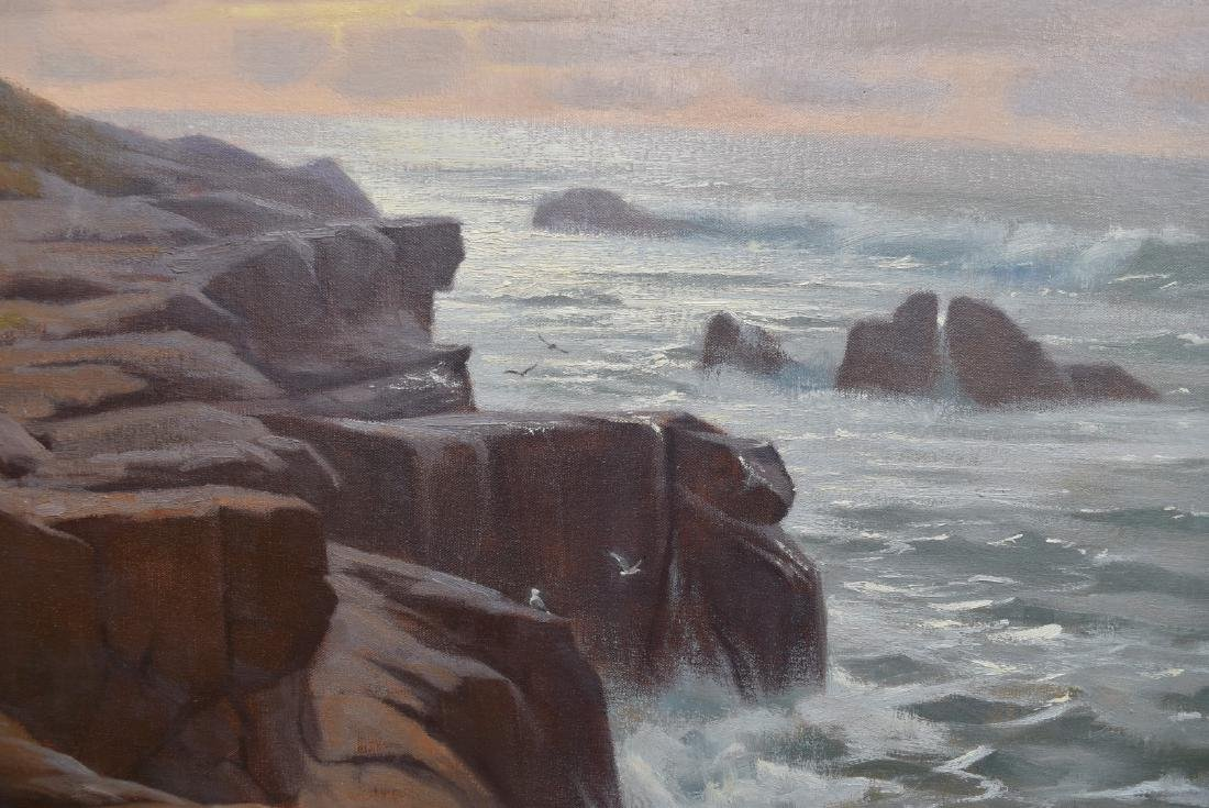 Ivan Kelly; 20thC. American Oil - Morning Surf Signed - 4