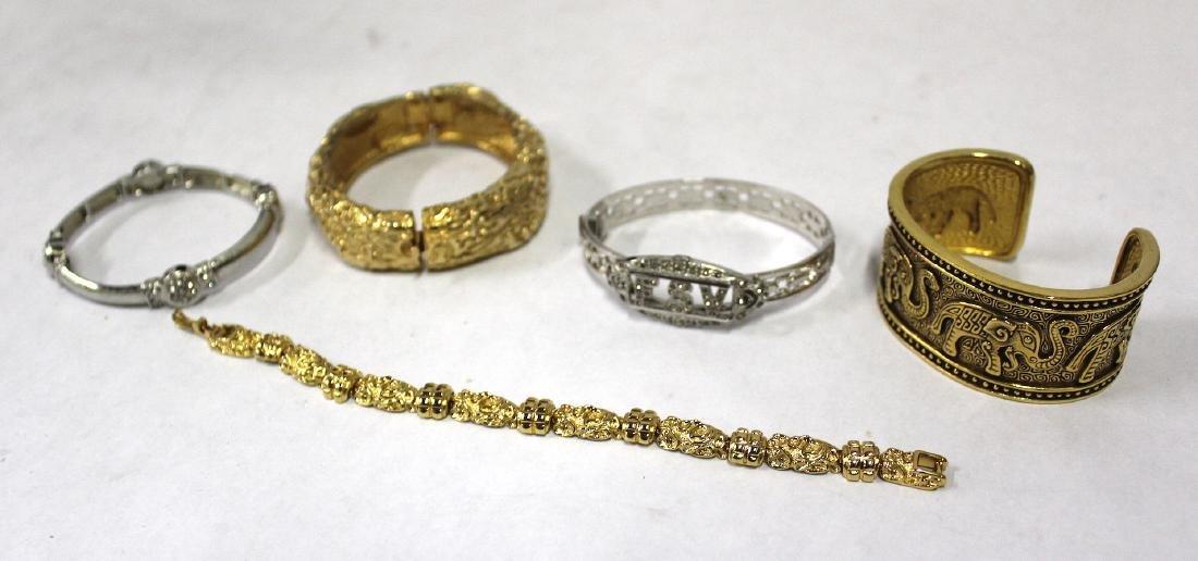 Vintage Costume Jewelry Bracelets  inc. Sgd. Monet (5) - 2