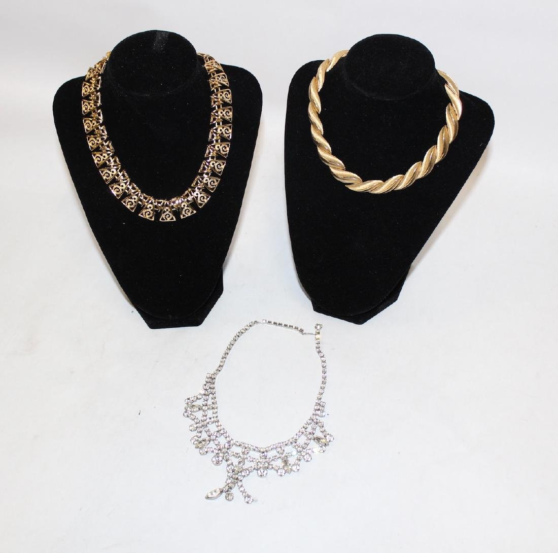 Vintage Lot of Necklaces inc. Monet & Rhinestone