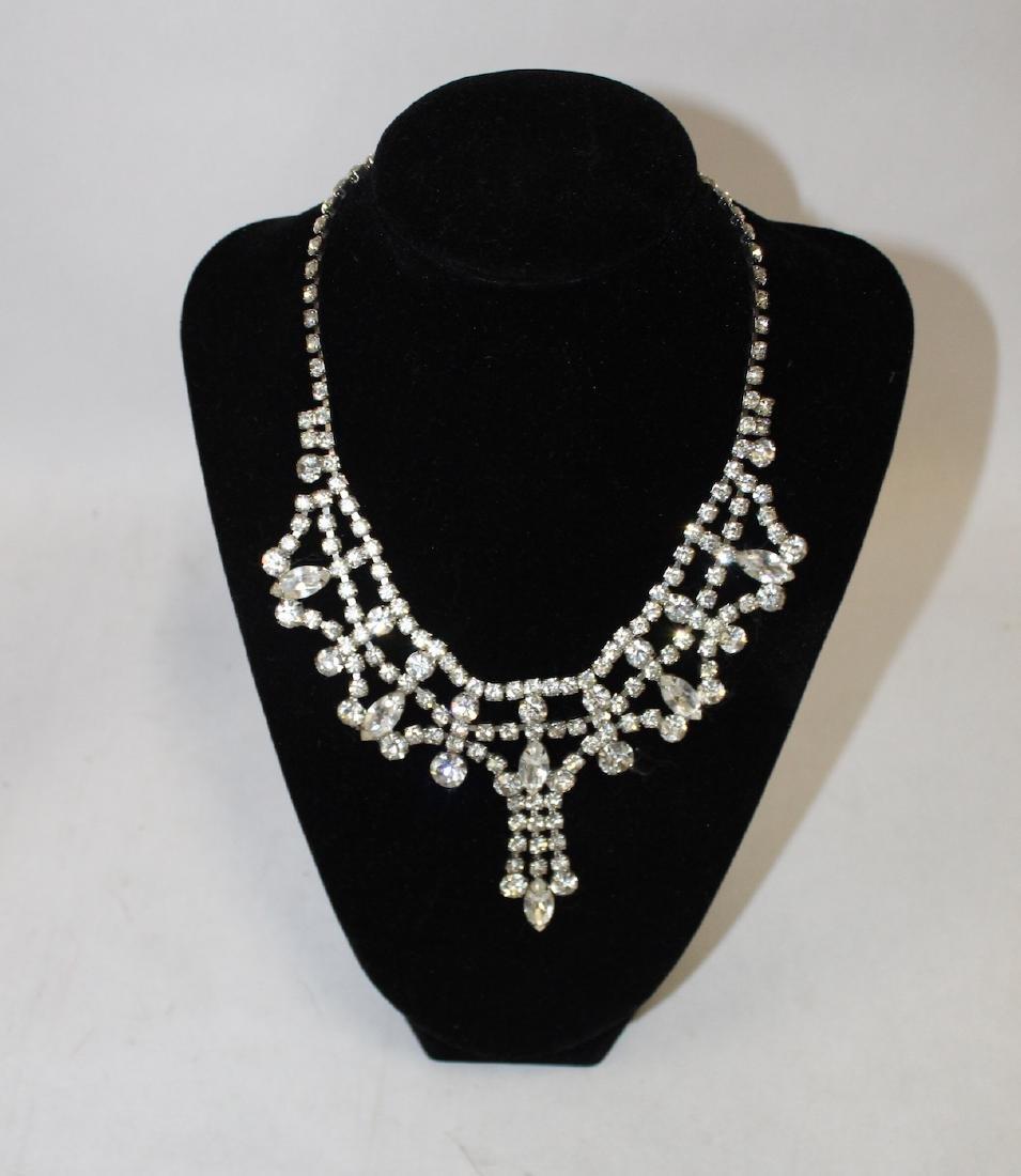 Vintage Lot of Necklaces inc. Monet & Rhinestone - 4