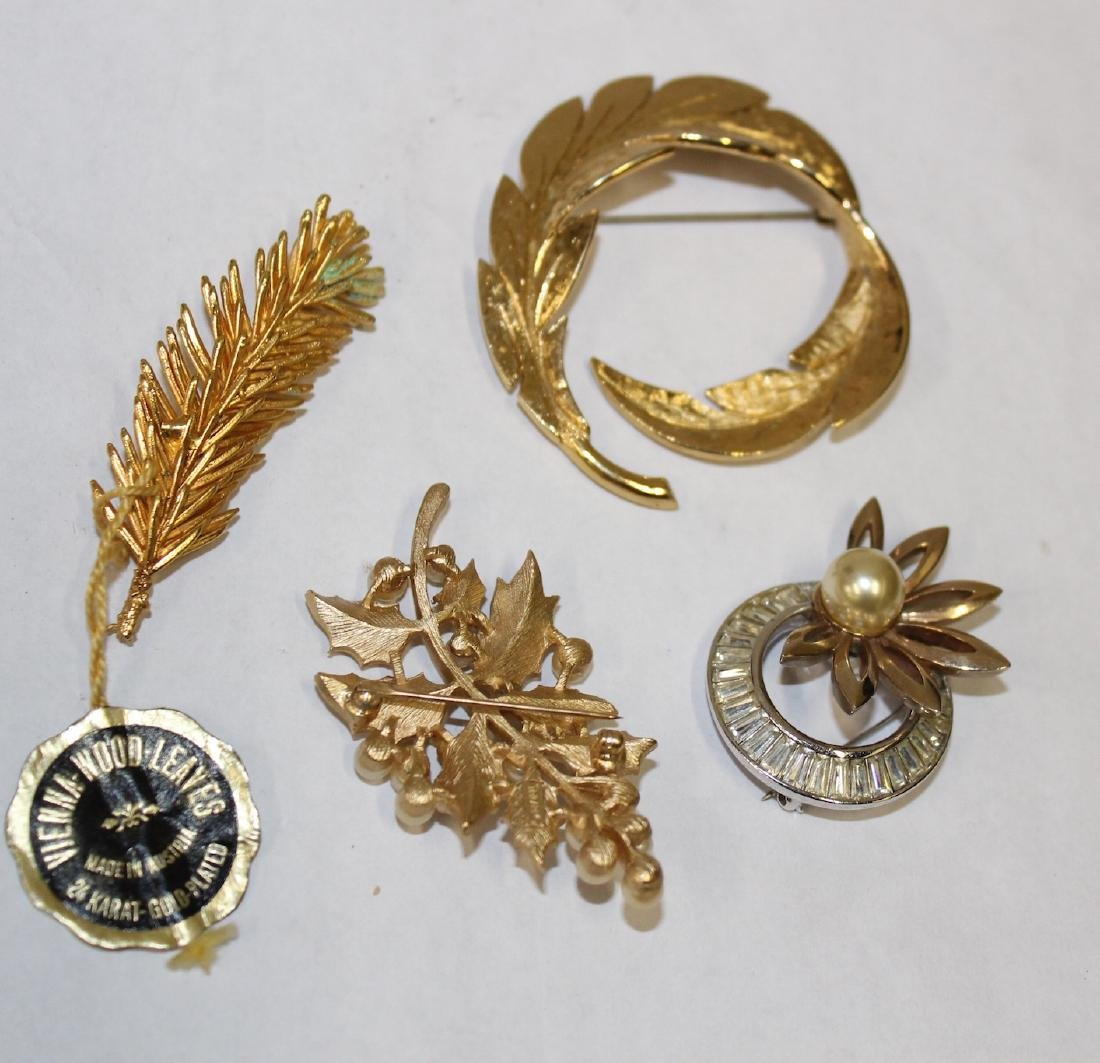 Vintage Signed Brooches  inc. Pennin , Trifari &