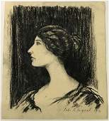 John Singer Sargent. Original Drawing. Sgd.