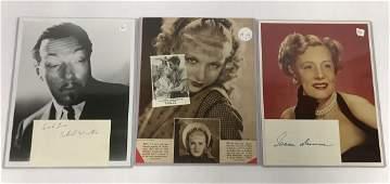 Autograph. Joan Bennett, Irene Dunne, R. Winter