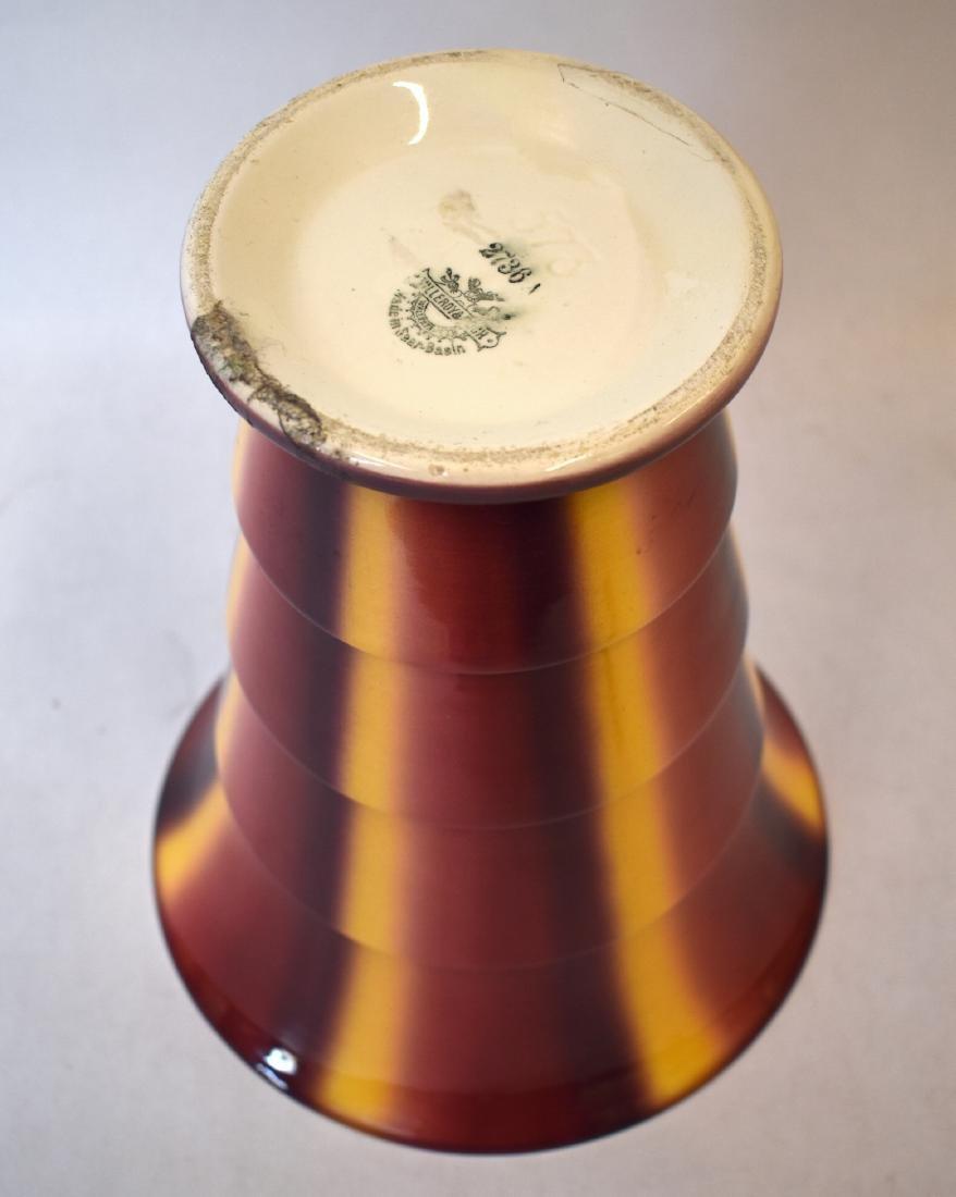 Sprtizdekor Art Deco Villeroy & Bach Vase. C. 1930 - 4