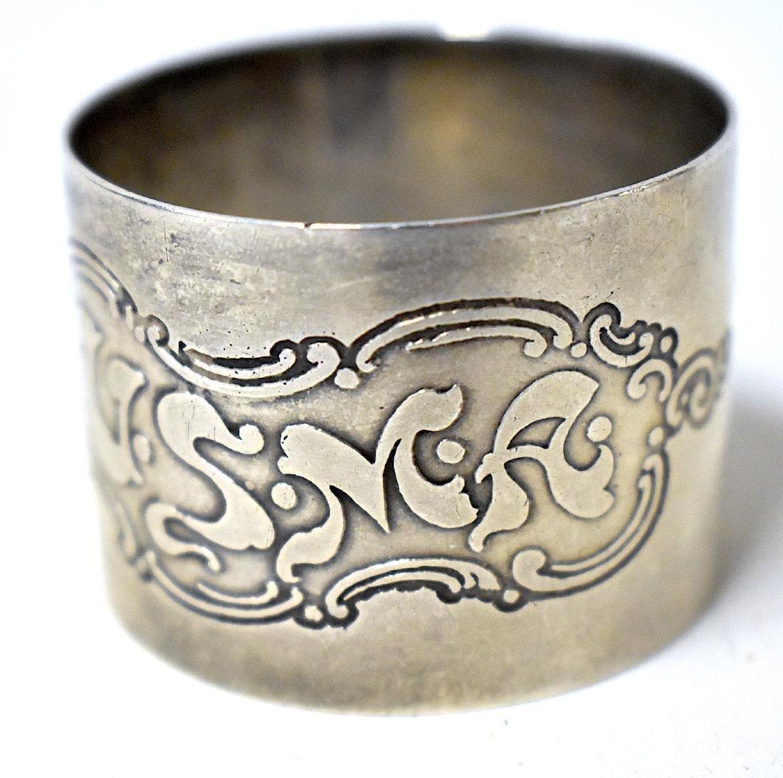 Sterling Silver USMA Napkin Ring . C. 1909