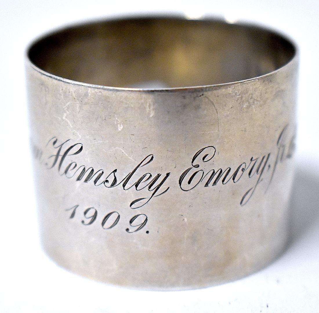 Sterling Silver USMA Napkin Ring . C. 1909 - 2