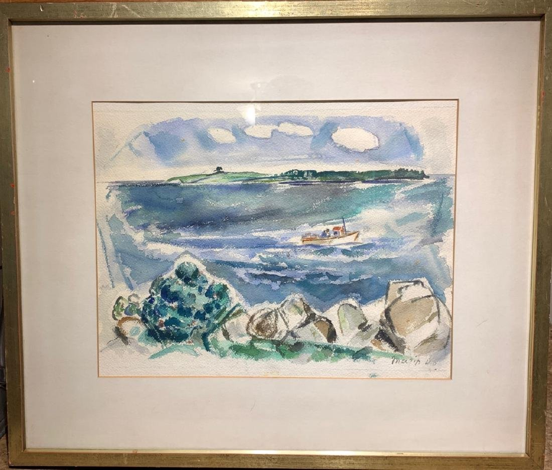 John Marin. American Modernist Watercolor. Signed