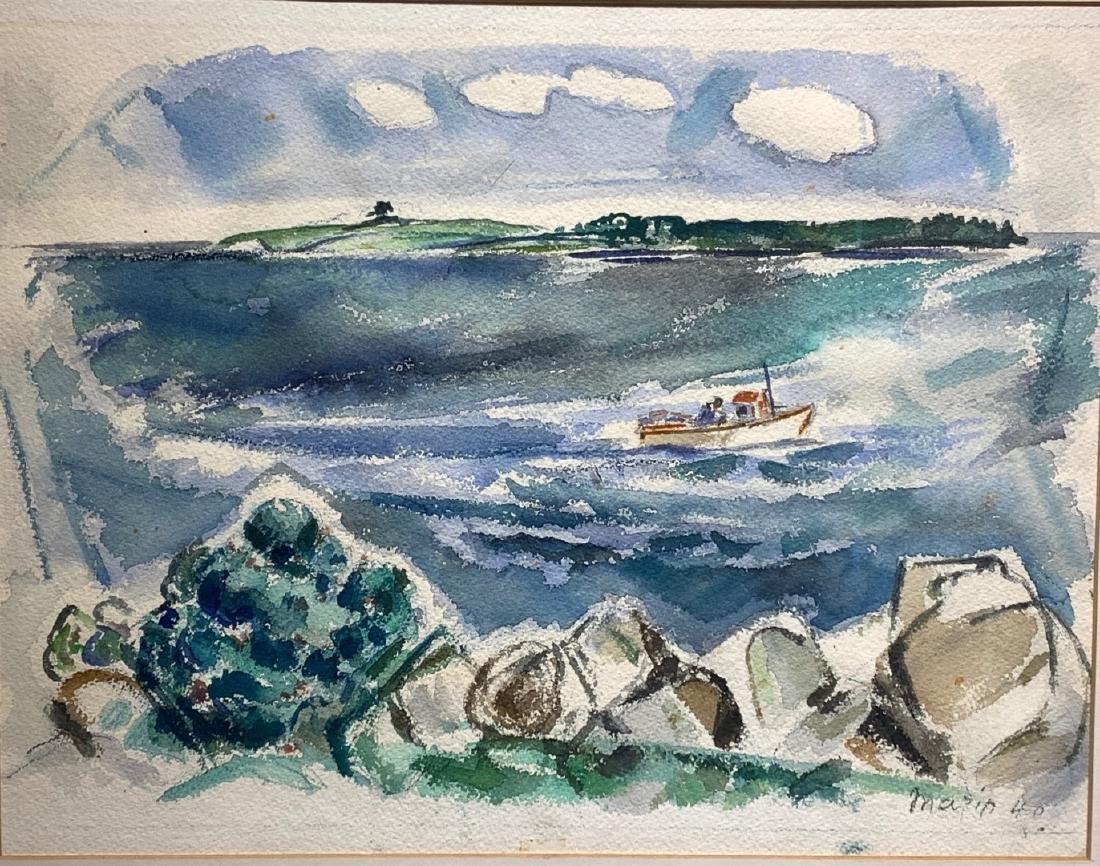 John Marin. American Modernist Watercolor. Signed - 2
