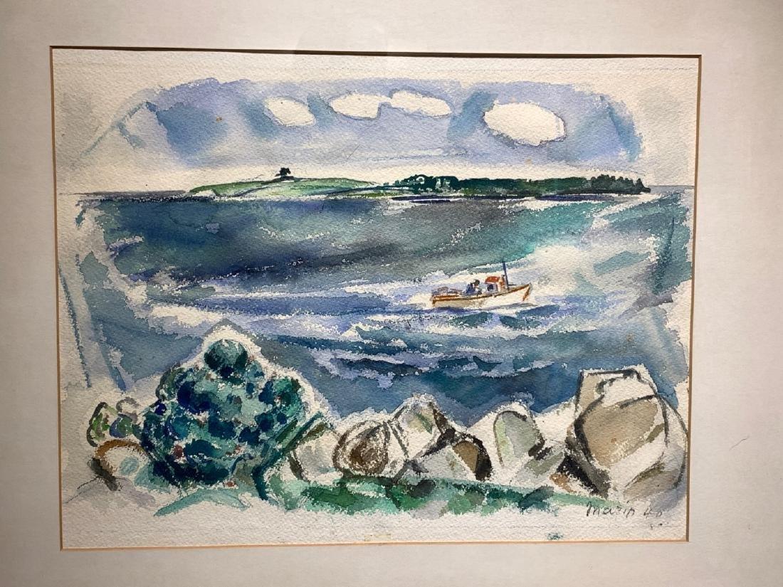 John Marin. American Modernist Watercolor. Signed - 3
