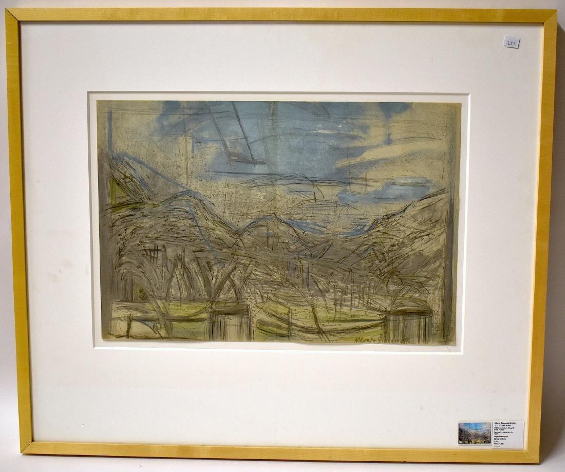 Alberto Giacometti. Lithograph. Signed