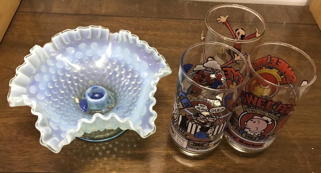 Hobnail and Collectible McDonald Glasses (4)