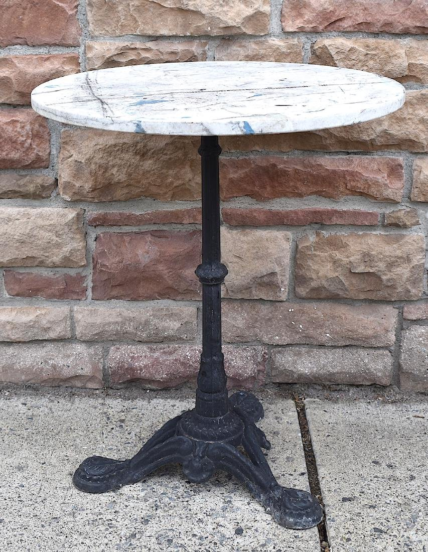 Antique Marble Top Ice Cream Parlor Table.