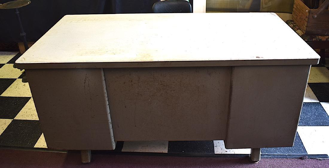Mid-Century Modern Industrial Tanker Desk w/Chair - 10