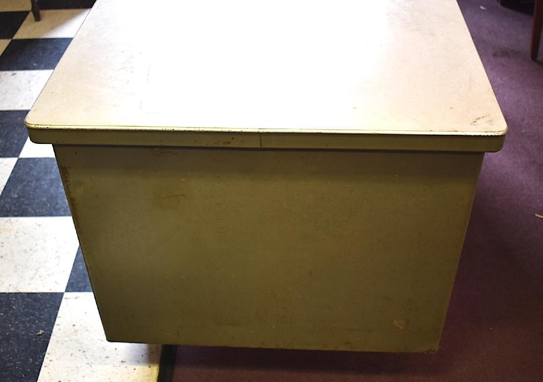 Mid-Century Modern Industrial Tanker Desk w/Chair - 9