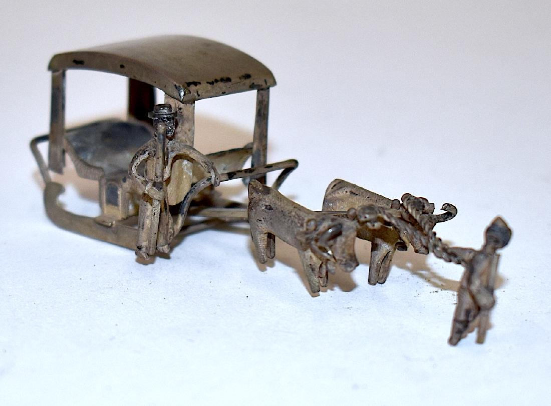 Sterling Silver Chinese Miniature Sleigh
