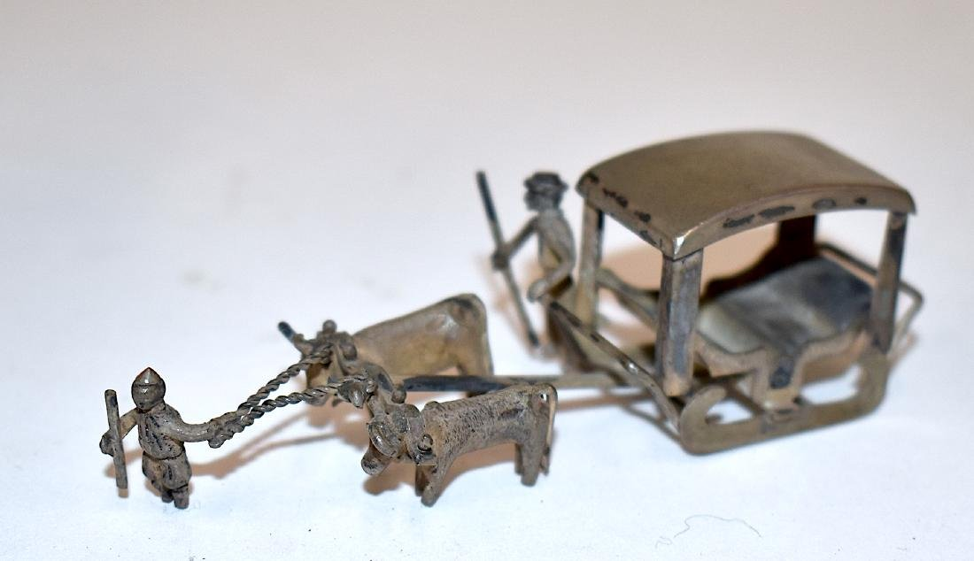 Sterling Silver Chinese Miniature Sleigh - 2