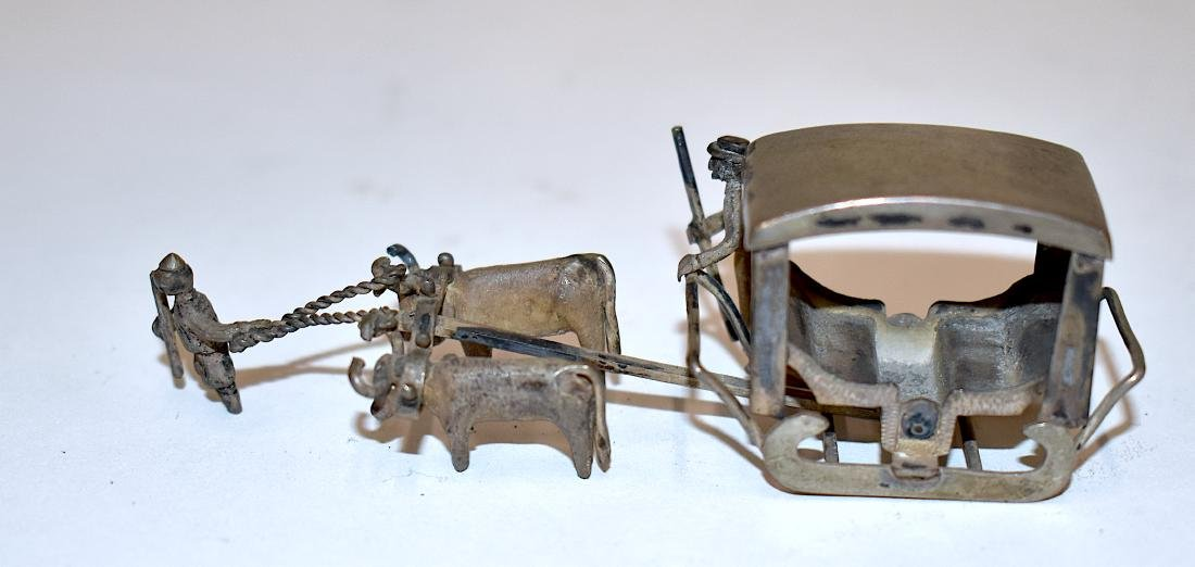 Sterling Silver Chinese Miniature Sleigh - 3