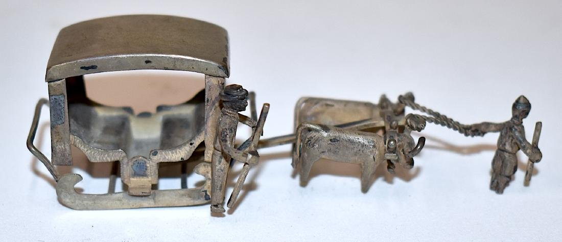 Sterling Silver Chinese Miniature Sleigh - 4