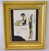 Leroy Neiman Watercolor Sgd