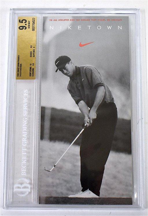 Tiger Woods Niketown Promo Rookie 1996 Card