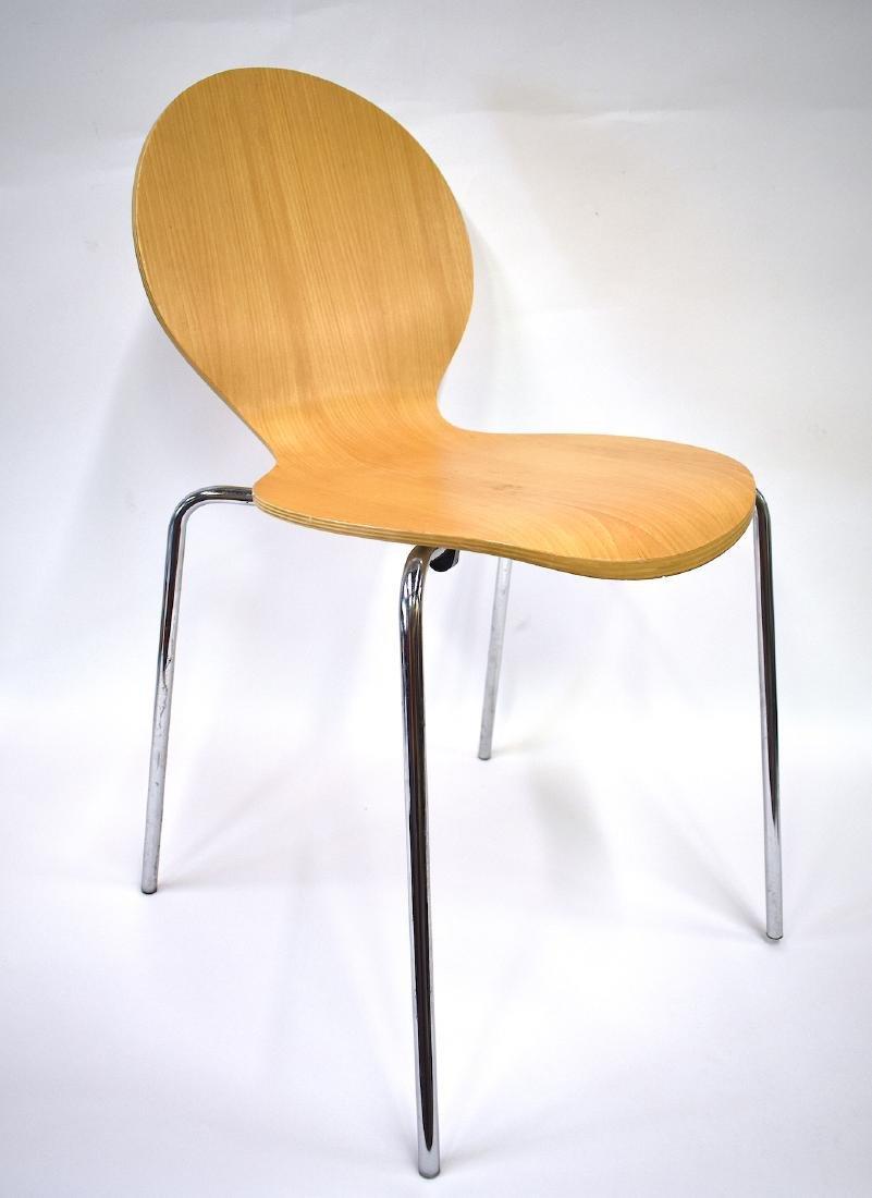 Mid-Century Modern Blond Chair