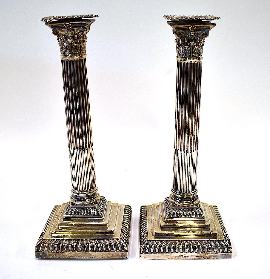 Pr. Georgian Silver Candlesticks with Hallmarks