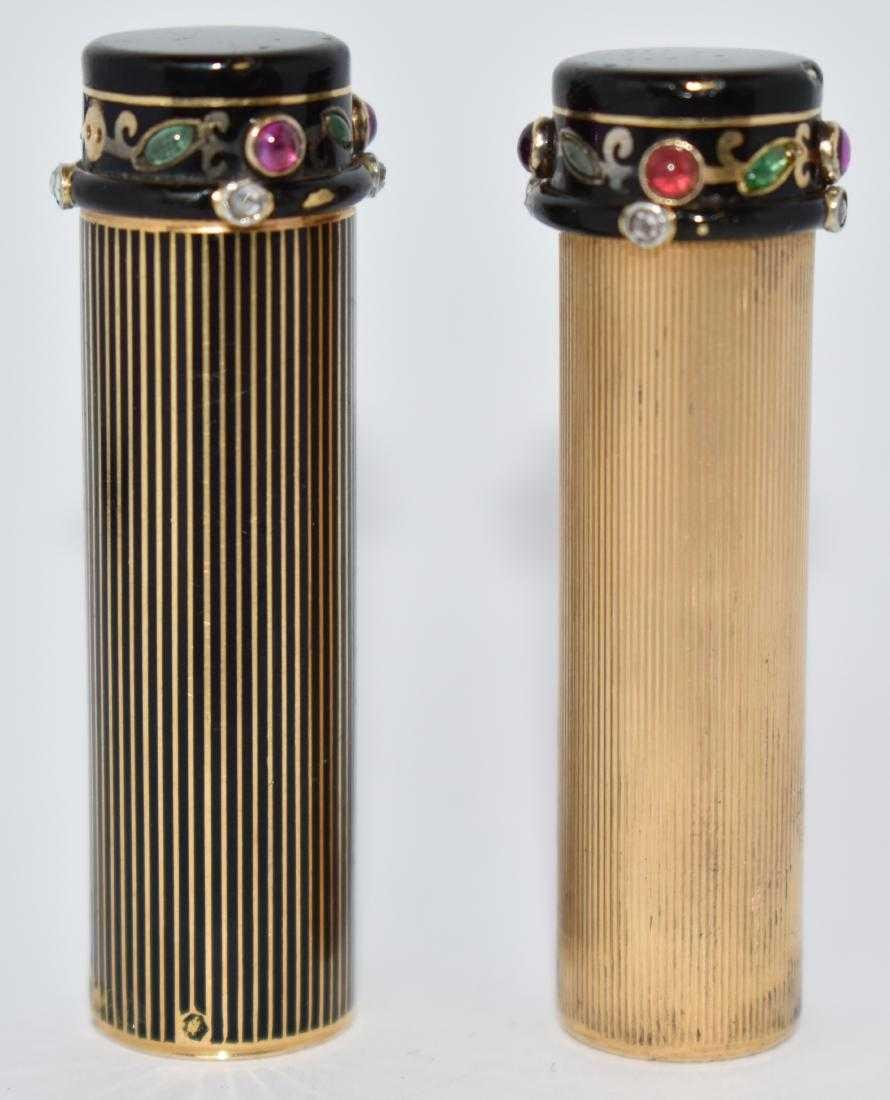 Cartier 18K Gold Ruby & Diamond Lipstick Case