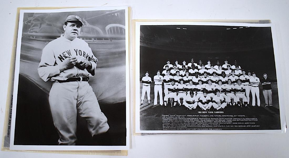 Babe Ruth NY Yankee Photo & Neg. 1982 Team Photo w/Neg
