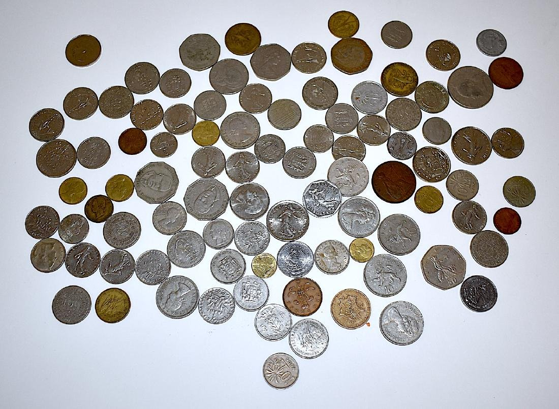 Foreign Coins, Mostly from 1958 to the 1970's.