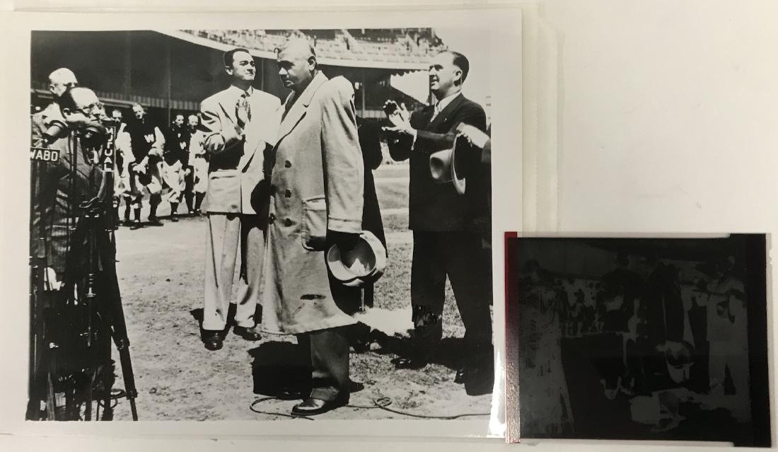 Photograph. Babe Ruth at the Stadium Old Timers Day