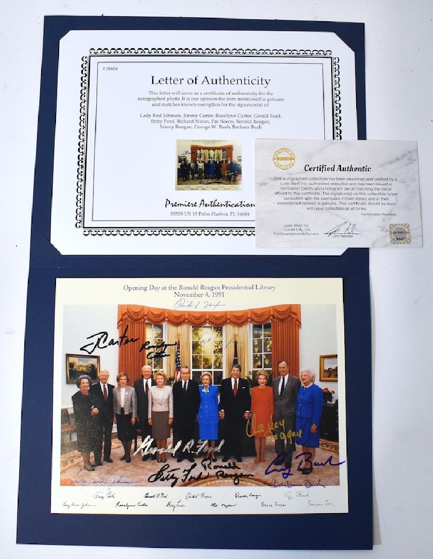 Rare President & First Ladies Signed Group Photograph