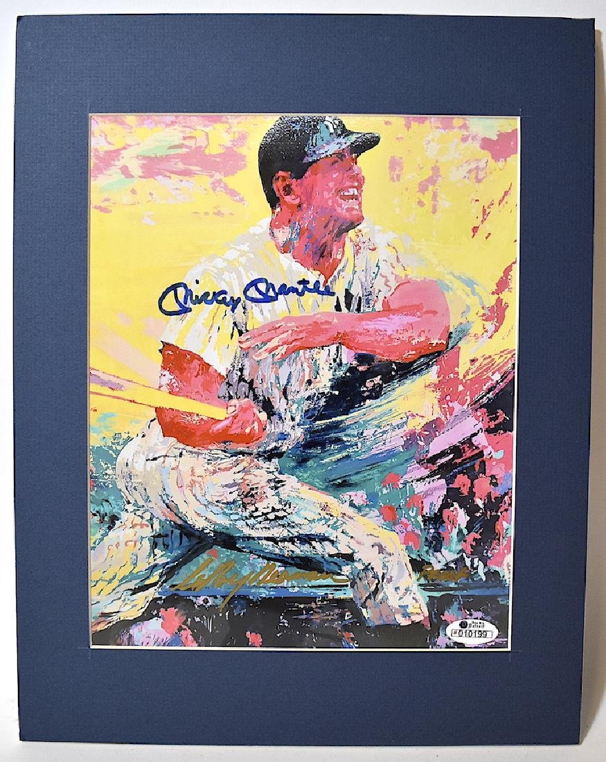 LeRoy Neiman lithograph. Sgd. by Mantle and by Neiman