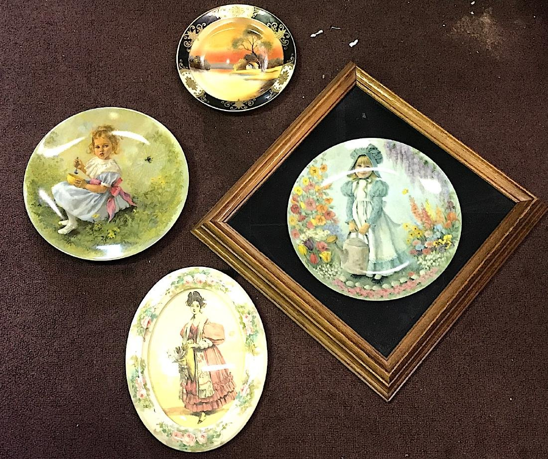 Collectors Lot of Plates & China Pcture Frame
