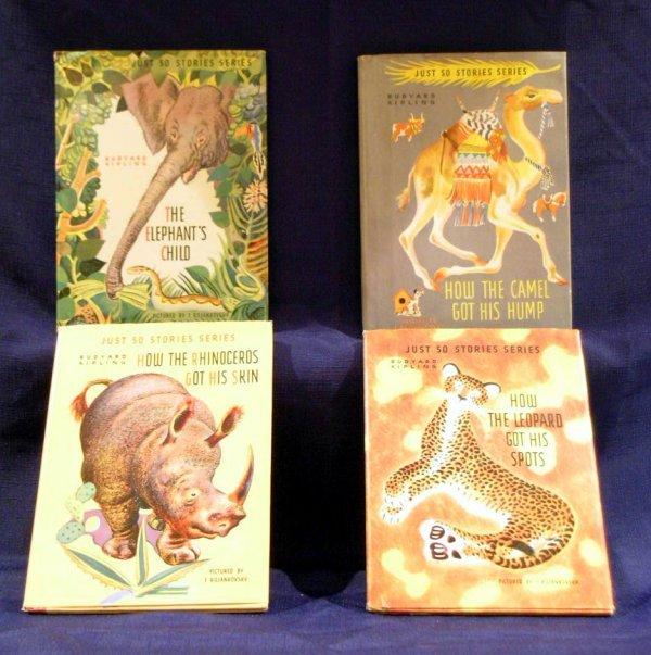 8: Four (4) Children's Books, Rudyard Kipling, Just So