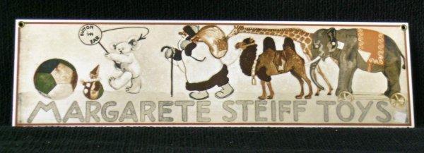 13: Enameled Steiff Toy Sign