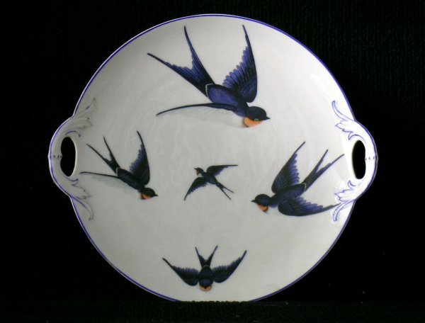 16: Hand painted Bavarian Cookie Platter