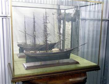 89: Cased Model of a Multiple Sail Vessel