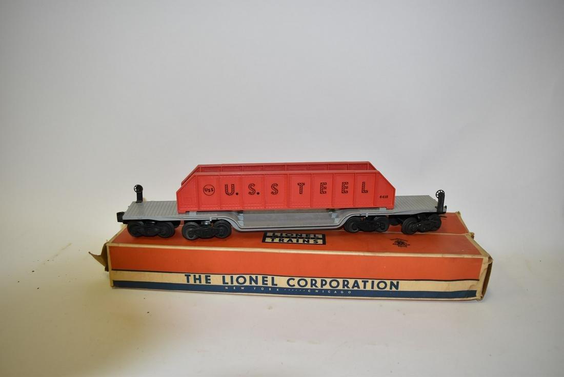 Lionel O Gauge 6418 U.S Steel Machinery Cars - Original