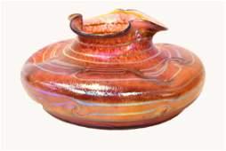 Loetz (Style of) Monumental Art Glass Vase.
