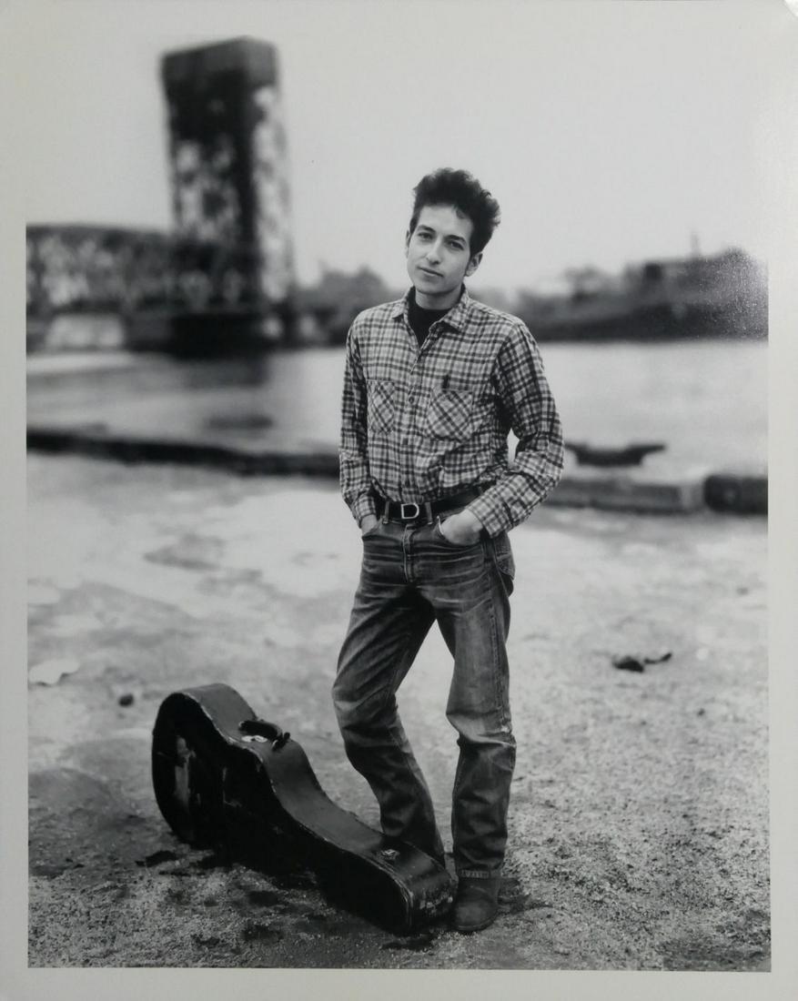 Bob Dylan Richard Avedon Signed New York Photo