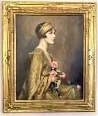 Charles B. Chambers; 20thC. Oil - The Kimono Signed