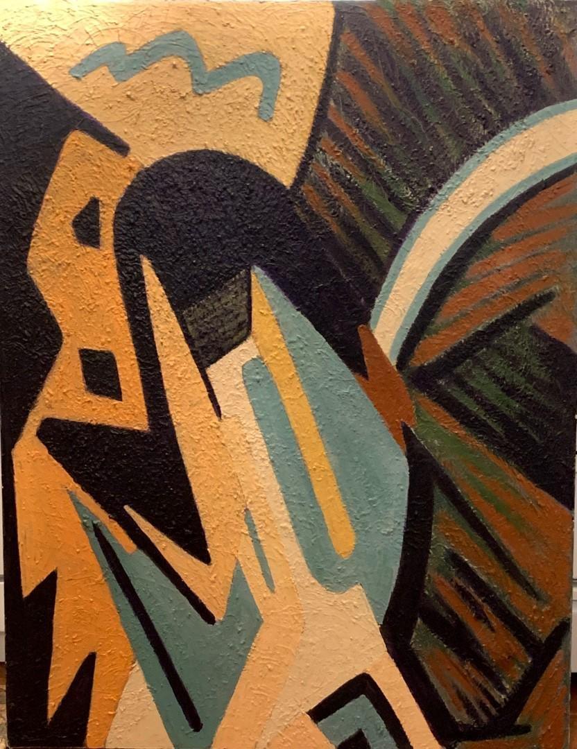 Marsden Hartley(attrib.to)20thC. American Modernist Oil