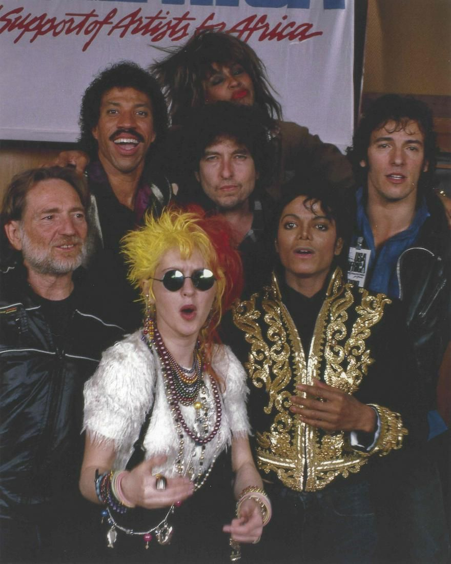 Michael Jackson Bruce Springsteen USA For Africa Photo