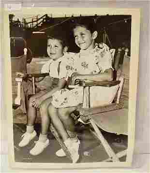 Frank Sinatra Children Photo with Publicity Snipe