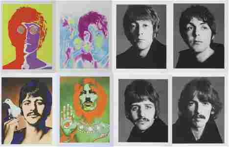 The Beatles Avedon 8 Portrait Collection Signed