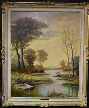 Giuseppe Martinelli. Oil. Landscape. Sgd..