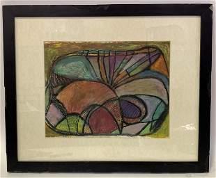 Myra Forman; Modernist Crayon - Abstract Composition